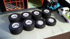 [ジャンク]トラック用 タイヤ&ホイールセット