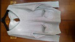 USEDリズリサリボンポケット可愛いセーター