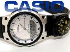 良品 CASIO【アナデジ】コンパス付き Illuminator メンズ腕時計