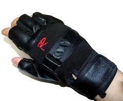 ツーリングに ライダース フィンガーレス レザーグローブ 半指 手袋