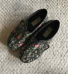花柄  マジックテープ  靴  美品