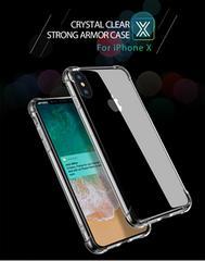 iphoneXS/X クリアラバー シリコンケース ショック軽減ケース