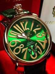腕元で映える綺麗な緑♪★ファッション腕時計メンズ★CF