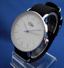メッシュベルトカジュアルウォッチSV/BK-腕時計