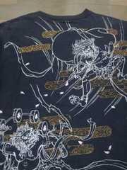 ★USED[クロップドヘッズ]風神雷神 半袖Tシャツ スカジャン好きにも