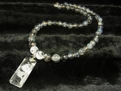 最強オラオラ数珠 浮彫龍水晶プレート 龍紋石 ドラゴンアゲート ネックレス