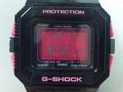 4635/CASIOカシオ★G-SHOCKタフソーラー充電式タイプブラック&ピンクG-5500