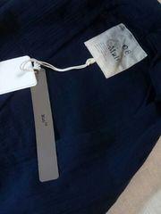 ●08mab●ダブルガーゼボリューミー襟ガウンカーデ新品ネイビー