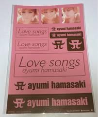 ★浜崎あゆみ/Love songs ステッカー★