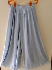 新品 グレイル ワイドパンツ スカート ブルーLサイズ