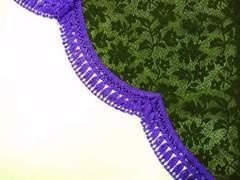 レースサイドカーテン L 紫 2t 4t 大型 日よけ 西日 日焼