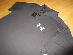 【アンダーアーマー】 ヒートギア 半袖速乾ポロシャツ(XL)