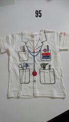 白にドクター柄半袖Tシャツ