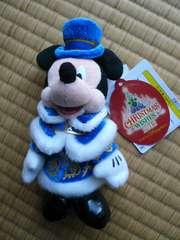 ディズニーシークリスマス2012ミッキーぬいぐるみバッチ 新品