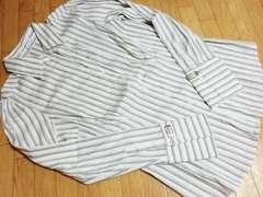 新品 エクスプレス/EXPRESS ストライプ柄カジュアルシャツ