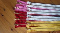玉付き20cmファスナーピンク、黄、赤、キナリ計10本kiki雑貨カフェ