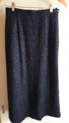 ■冬物美品黒柄モチーフロングスカート■