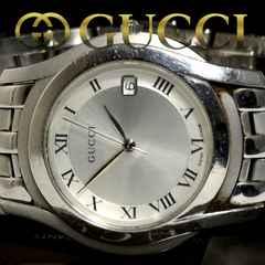 美品【カード付】1スタ グッチ/Gucci 5500M 約14万 メンズ腕時計