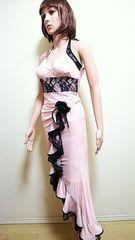 新品タグ付☆agehaふり�Aバイカラーのドレス  D47☆3点で即落