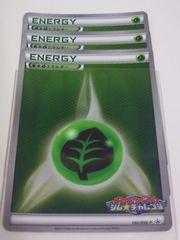 基本くさエネルギー 140/BW-P ポケモンカードゲーム ジム★チャレンジ 3枚セット