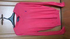 訳あり激安78%オフラルフローレン、長袖ニット、セーター(新品タグ、ピンク、XL)