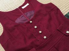 PRIMEPATTFRN/お花ボタン/ジャンバースカート/cute