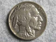 アメリカ 1936年バッファロー 5 Cents (Buffalo - Indian Head)