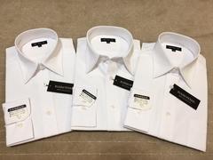 長袖ワイシャツ新品 白無地 3枚セット Lサイズ
