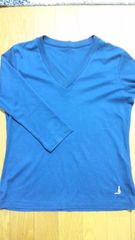 エル  ELLE  紺色 V首7部袖Tシャツ  インナーに