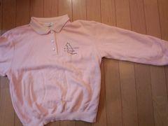 ピンクのニット【長袖・Mサイズ】