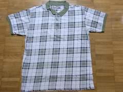 即決USA古着●BASIC EQUIPMENTチェックデザイン半袖ポロシャツ!ビンテージレア