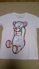 グラニフ ホワイト コントロールベアー ペイント 半袖Tシャツ