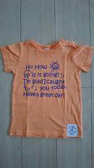 1点難有り ラキエーベ キムラタン 半袖Tシャツ サイズ95 オレンジ 夏物
