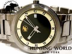良品 1スタ★ハンティングワールド【スイス製】メンズ腕時計