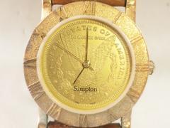 8908/simplonコインデザインモデルなかなか出ない一点物メンズウォッチ!