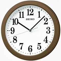 セイコー 時計 掛け時計 電波 アナログ コンパクトサイズ 茶