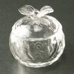 新品 ガラス製 フタ付き アップル ダッペンディッシュ