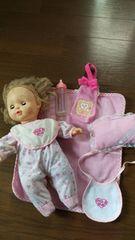 お人形さんset 人形 枕 服 スタイ ミルク ミルクケース7点set