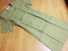タケオニシダ/an TAKEO Nスイス産ロングジャケットワンピース