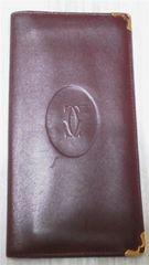 激安セール中古『Cartier』長財布 濃いブラウン カード付 正規品