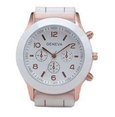 今回限り600円★おしゃれデザイン腕時計 白 初期不良保証