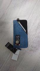 新品:プレイボーイ:財布メンズ長財布デニム風ラウンドファスナーロゴプレート合皮