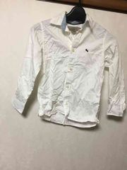 H&M/子供服/シャツ/長袖/ホワイト/120/130