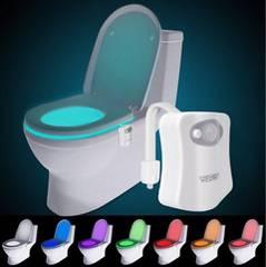 【トイレが楽しくなる♪】トイレ便座センサーライト LED 8色