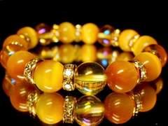 ゴールデンタイガーアイ§ゴールデンオーラ10ミリ金ロンデル数珠