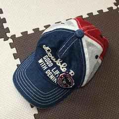 ミキハウスダブルB☆キャップ帽子☆Sサイズ48-50cm