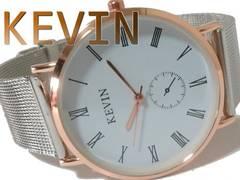 【新品・未使用】KEVIN WATCH お洒落な大型メンズ腕時計
