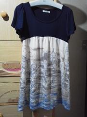 アクシーズTシャツ地で楽に着れるチュニック/送料250円