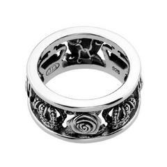 新品◆JUSTIN DAVIS◆MY LOVE RING◆8号◆薔薇クラウンリング◆
