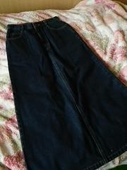 デニムのロングスカート♪ブルー 61 スリットあり
